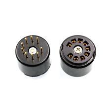 9pin bakelite tube socket testing saver for 12AX7 12AT7 5670 6DJ8 gold plated x3