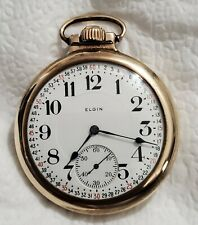 Vintage 16 Size Elgin Grade 466 Running Pocket Watch – Ie120