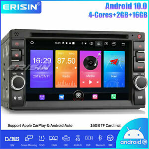 Double Din Android 10.0 Car Stereo DAB+WiFi CarPlay OBD2 Sat Nav CD Bluetooth 4G
