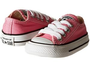NEW INFANT TODDLER CONVERSE PINK OX FREE SHIPPING MEDIUM WIDTH