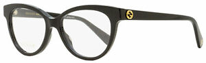 Gucci Oval Eyeglasses GG0373O 001 Black 52mm 373