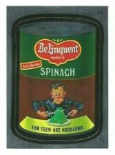 2010 Wacky Packages ANS7 Series 7 Foil F4 DELINQUENT SPINACH w/Jay Lynch auto