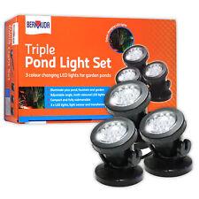 Bermuda LED Spotlight Set (3 Lights) Triple Pond Light Garden Submersible Pond