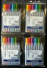 Staedtler Triplus Fineliner Porous Point Pens, 0.3mm, Assorted Colors, 10Pack x4