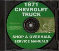 CHEVROLET 1971 Pickup, Van, Blazer, Suburban & Truck Shop Manual CD