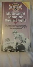 GREAT FIGHTS 2 - MIDDLEWEIGHT CHAMPIONS GREATEST FIGHTS - VHS VIDEO