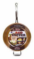 Red Copper  Ceramic Copper  Fry Pan  12 in. Red
