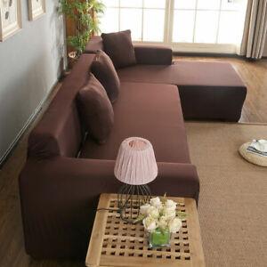 Polyester Housse de canapé 3 + 2 Housse de canapé d'angle de siège en forme de L