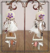 Boucles d'oreilles LOLILOTA LOL BIJOUX blanc strass pompon perle poisson