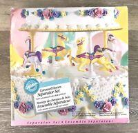 Wilton Carousel Horses Cake Separator Set Kids Birthday Party