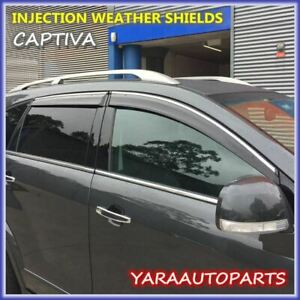 Quality Weather Shields Window Visors  for Holden Captiva 2006-2018 Tinted
