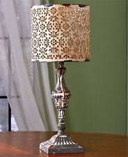 """19.5"""" Tall Vintage Metal Candle LED candle Lamps Table Candle Holder Candle Lamp"""
