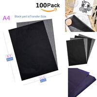 100 Blatt A4 Schwarz Kohlepapier Kores Pauspapier Durchschlagspapier kunstwerks