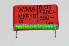 FK.6  5x WIMA MKP 10 Polypropylen Kondensator 0,01µF - 1600- 650~ 10nF Rm 22,5mm