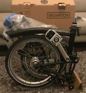 BROMPTON M6L BLACK - BRAND NEW WITH BOX - GLOBAL SHIP + TRUSTED SELLER