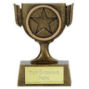 Mini Star Cup Trophy Award (6.5cm) free engraving & p&p