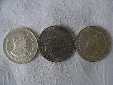 Monete Mexico 2 x peso ONU 1958; 1965 e 1 x 50 pesos 1982