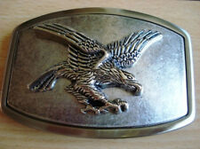 Color Belt Buckle Famous Eagle Silver