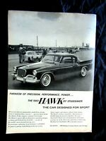 "1960 Studebaker Hawk Paragon Of Precision And Power Original Print Ad 8.5 x 11"""