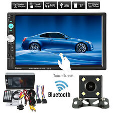 7'' 2DIN Bluetooth Autoradio Coche MP5 Reproductor AUX Player USB FM TF+Caméra
