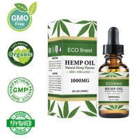 Organic Hemp Oil for Pain Relief Sleep Aid Anti Stress 1000mg Hemp Extract Drop