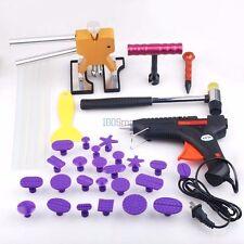 Car Paintless Dent Repair Removal PDR Puller Lifter Hammer Glue Gun Tool Kit