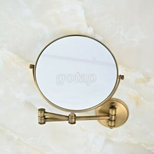 "Antique Brass Extending Folding Bathroom Mirror  8"" wall mirror cosmetic mirror"