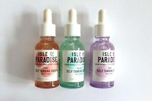 Isle Of Paradise Self Tanning DROPS  Face & Body 30ml - Please Choose Shade: