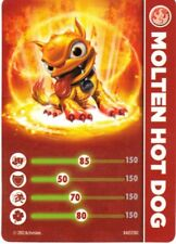 Molten Hot Dog Skylander Giants Stat Card Only!