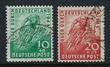 Germany Scott B304-B305 / Michel 106-107: 1949 Bicycle Tour set of 2, VF-CDS