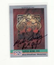 MIKE CAREY NFL REFEREE AUTOGRAPHED CARD WITH LETTER