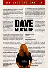 Megadeth Dave Mustaine interview Classic Rock mag