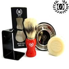 Grooming Set for Men Shaving Brush Bowl Kit Cutthroat Shave Razor Holder Stand