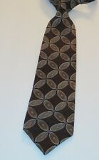TRUMP Arrow Brown 100% Silk 60 Inches Geometric Men's Necktie