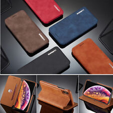 Classic Flip Magnetic PU Leather Wallet Card Pocket Kickstand Case Lot Cover LC1