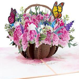 LIMAH® Geburtstagskarte Blumenkorb Hortensien