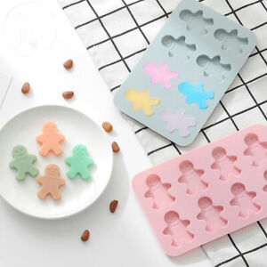 Gingerbread man Cake Jelly Cookies Soap Mold Chocolate Baking Mould Tray Wax Ice