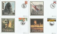 More details for 23 april 2007 england all 4 benham small silk bs 611 / 614 first day covers