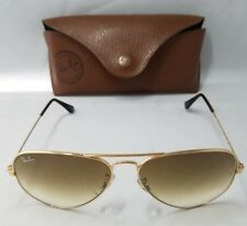 Ray Ban RB3025 Aviator Large Metal 58-14-135 2N Brown Sunglasses w/case