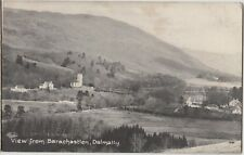 DALMALLY View from Barachastlen Argyll & Bute Vintage PC to Falkirk 1917
