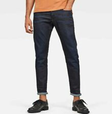 $170 NWT G-STAR 3301 STRAIGHT TAPERED JEANS MENS W33 L32 INDIGO SUPERSTRETCH new