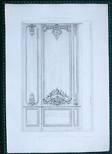 1880 FRENCH Architecture imprimé style Louis XV salon Palais Bourse BORDEAUX