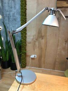 Modern table Desk Nightstand Lamp Bedroom Office Dorm Silver
