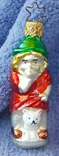 1991 Merck Familys Old World Christmas Ornament #1045 Girl w/Kitten-retired 1998
