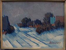 Arnold William Pedersen 1912-1986, Winterabend, um 1960/70
