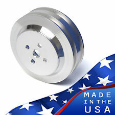 Big Block Ford Water Pump Pulley 429 460 2 Groove V-belt BBF Billet Aluminum PS