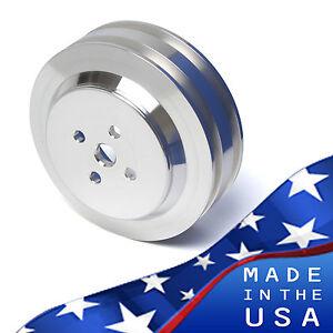Big Block Ford Water Pump Pulley 429 460 2 Groove V-belt BBF Billet Aluminum PS