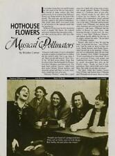 Hothouse Flowers Ornette Coleman Downbeat Clipping