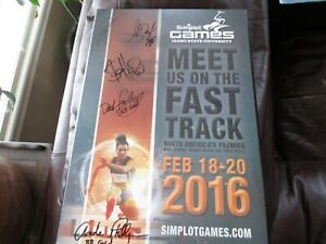 Simplot Games - Idaho State U 2016 Poster Framed Signed by Olympic Medalists
