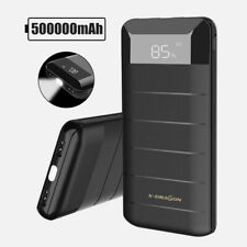 500000mAh External Power Bank Pack 2USB Battery Charger Portable For Phone UK